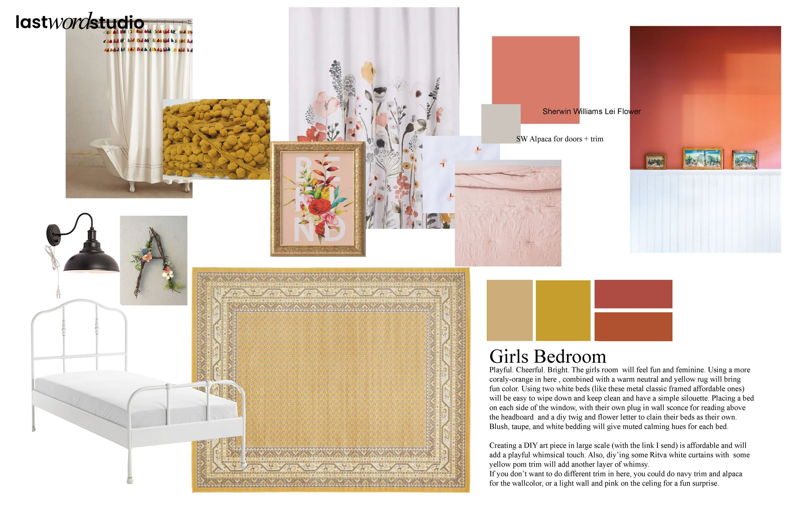 girls bedroom concept